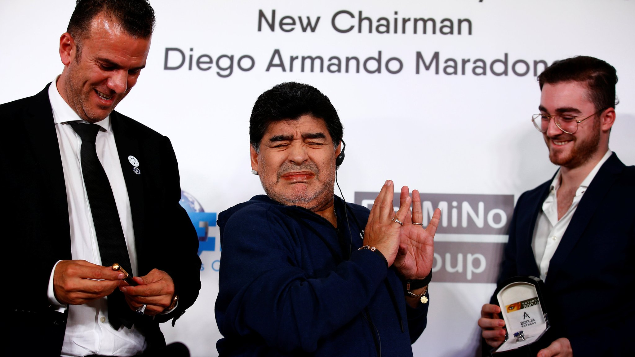 Diego Maradona presented as Dinamo Brest chairman