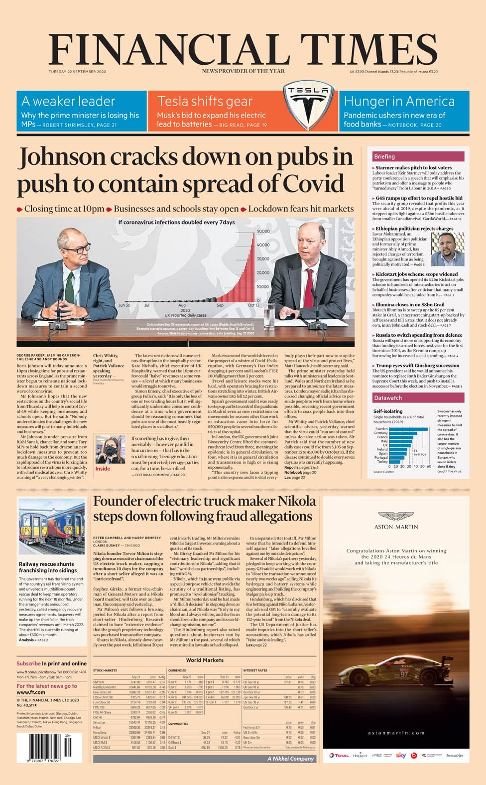 The Papers: 'The second shutdown begins' as Covid fears grow thumbnail
