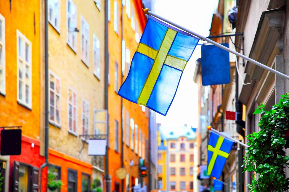 Banderas suecas en Estocolmo