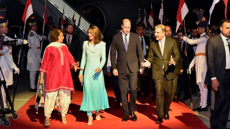 Duke and Duchess of Cambridge arrive in Pakistan