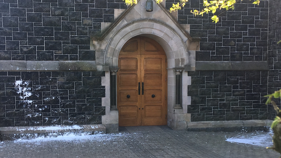 'Hate crime' paint attack on Ballyclare church