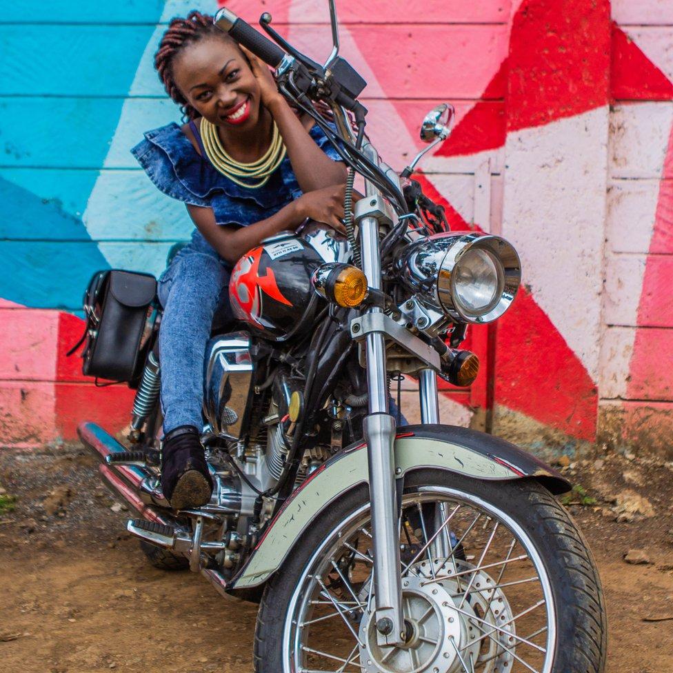 Kenyan biker Bettina Bogonko