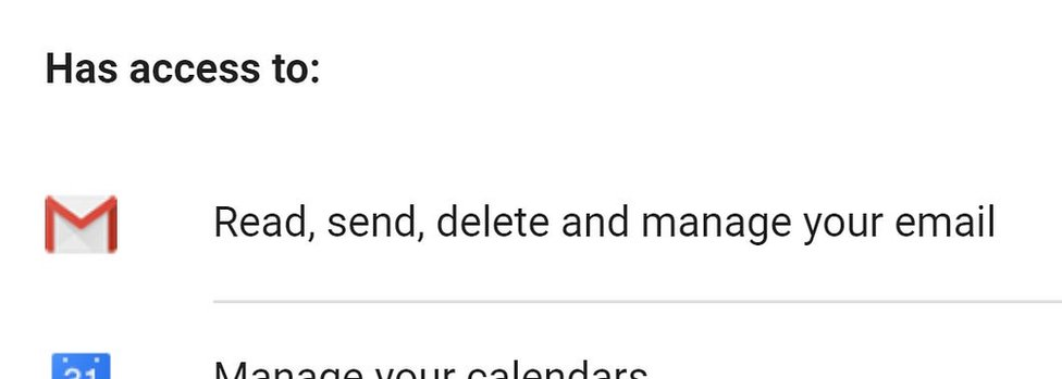 Apps can request permission to read Gmail messages
