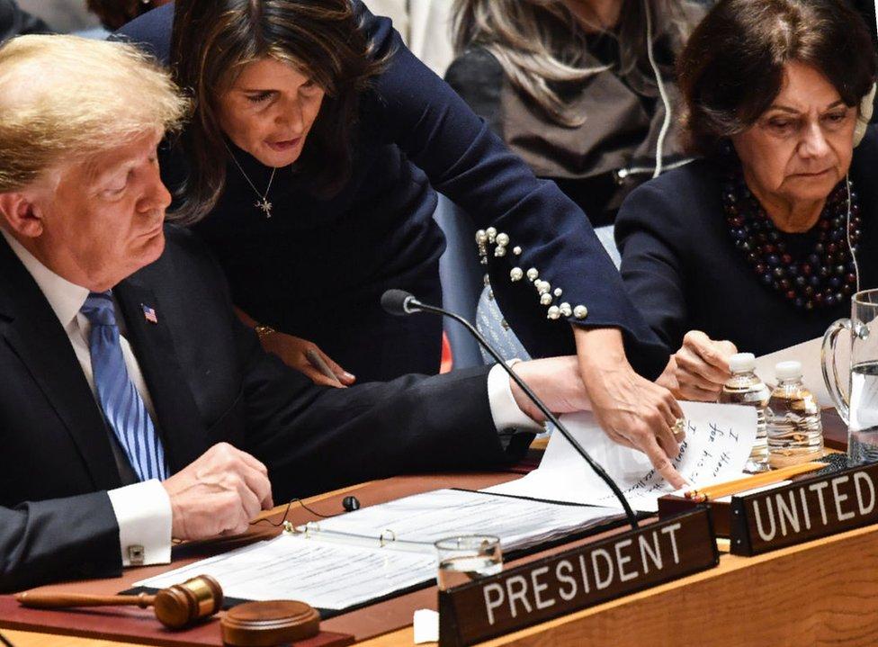 Tramp i Hejli na sednici Generalne skupštine Ujedinjenih nacija