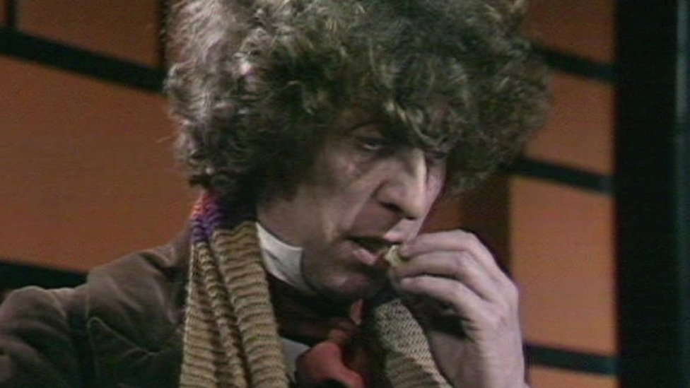 Doctor Who eating a Jelly Baby