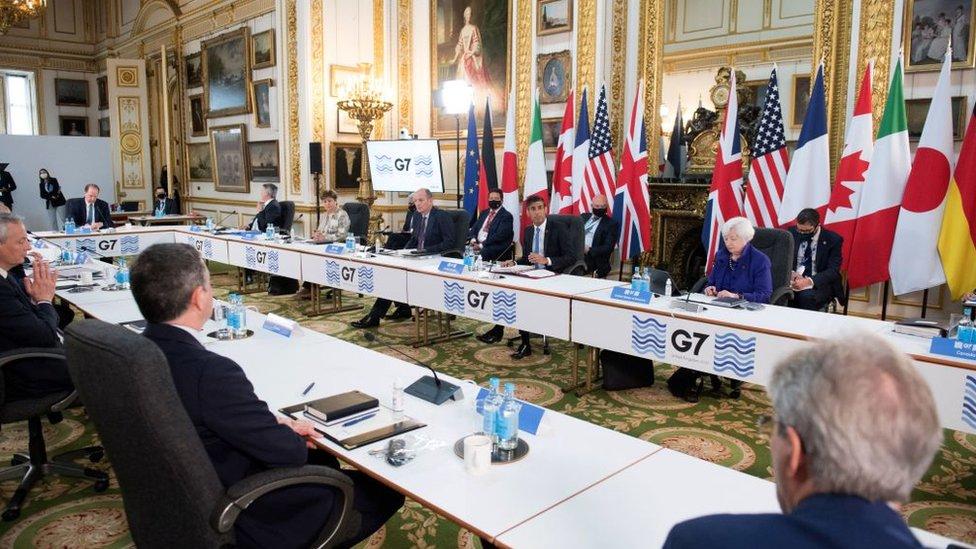 Reunión del G7 en Londres.