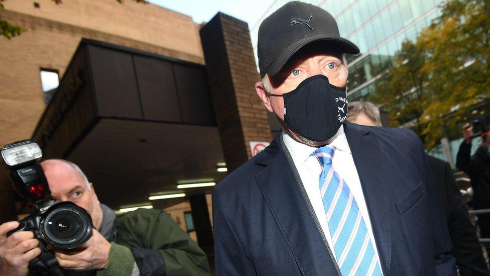 Former tennis champion Boris Becker leaves Southwark Crown Court in London