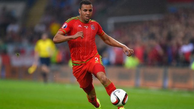 Hal Robson-Kanu in action for Wales v Belgium during the UEFA EURO Group B 2016 Qualifier