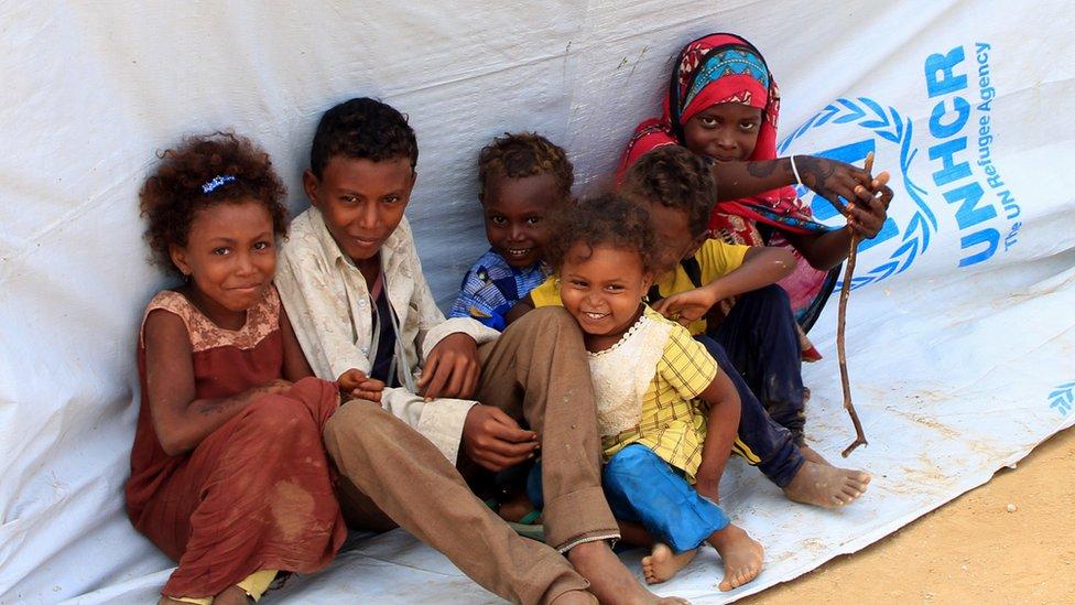 أطفال من الحديدة في اليمن