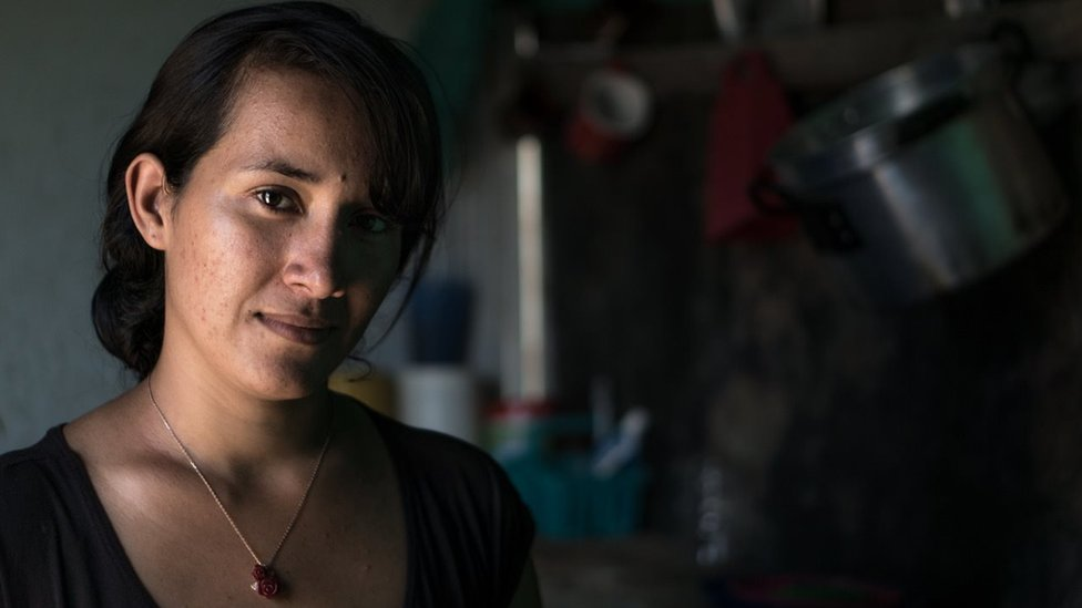 Nereidis Ascanio in the shack she lives in Cúcuta