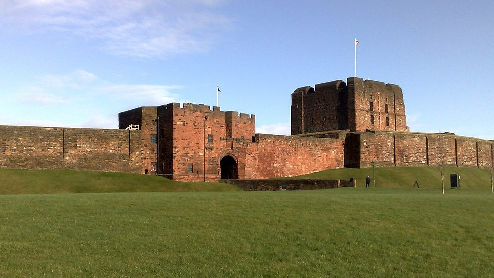Was the first England v Scotland match played at Carlisle Castle?