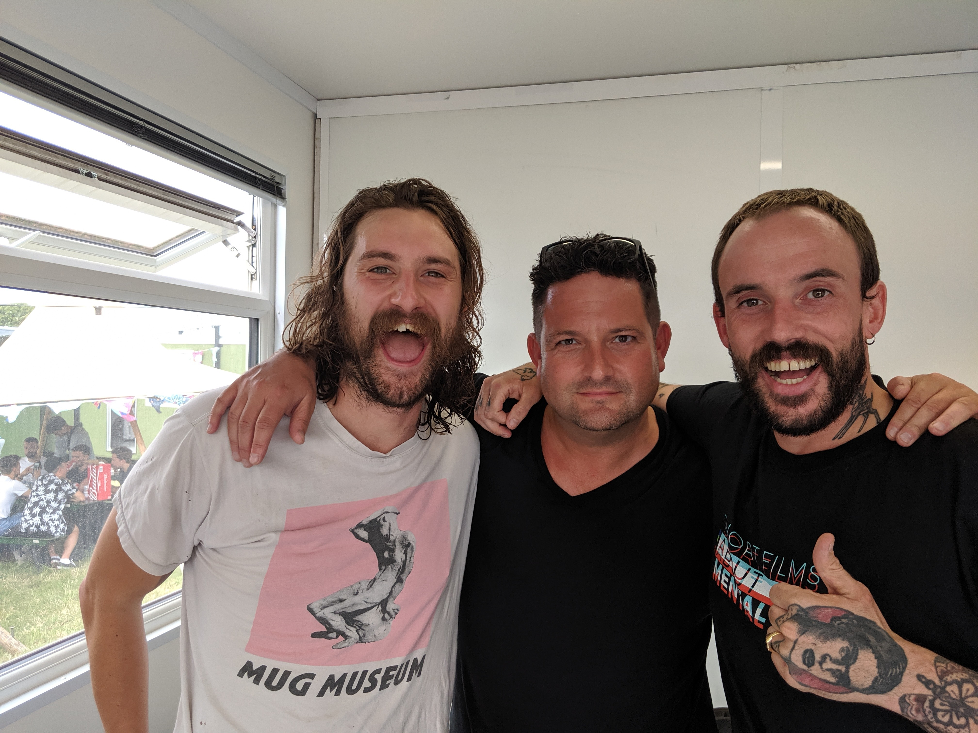 Bowen and Joe Talbot from Idles talk life on the road with Chris Hawkins