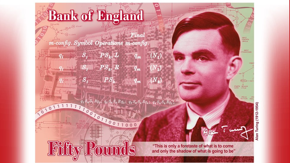 Alan Turning banknote concept