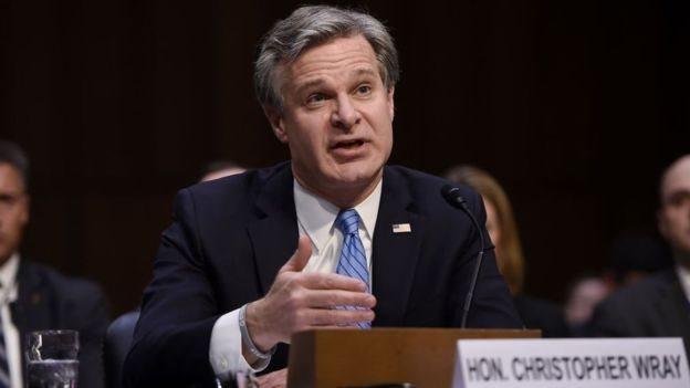 كريستوفر وراي يقول إن 1000 تحقيق على الأقل من التحقيقات التي أجريت مؤخرا في سرقات فكرية من مؤسسات أمريكية تشير إلى الصين