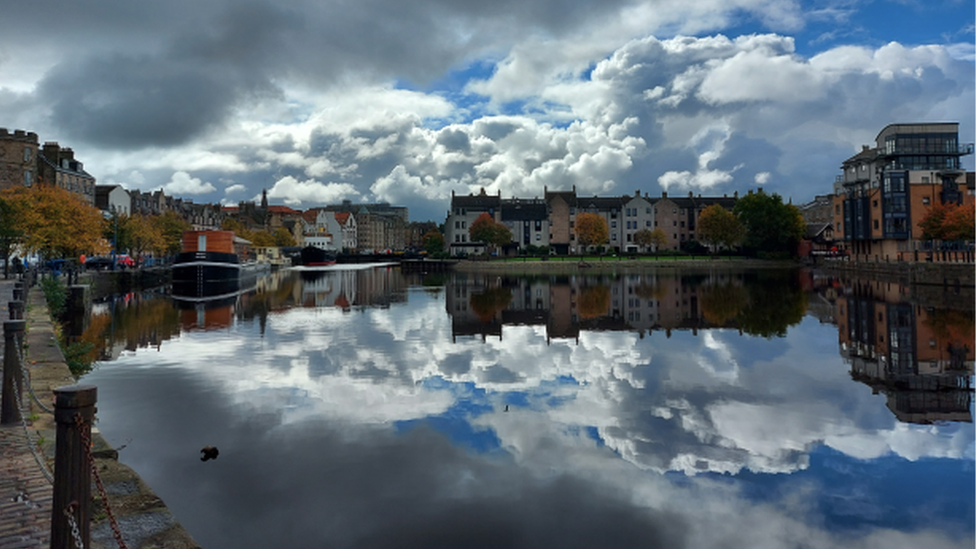 """""""A beautiful view of Leith in autumn"""", sent in By Gill Garrigan and taken by her husband Tom."""