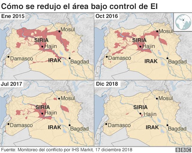 Cómo ha evolucionado la presencia de EI en Siria