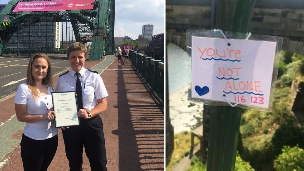 Teenager's bridge notes 'help save six lives' in Sunderland