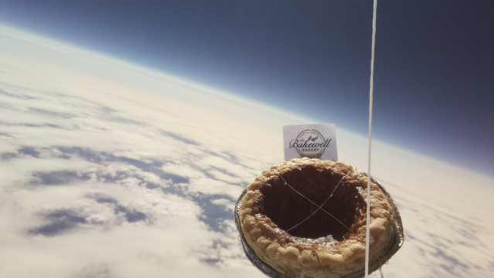 Bakewell pudding sent to the edge of space goes missing