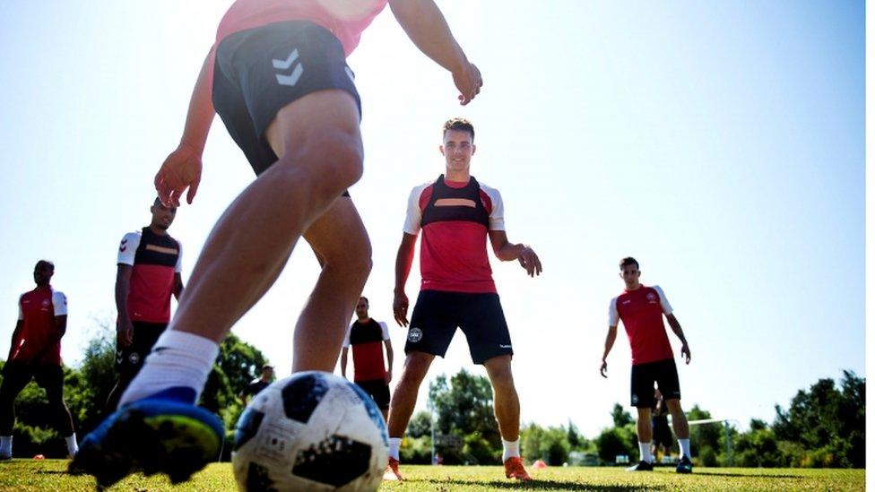 La selección danesa se enfrentará este jueves a Australia.