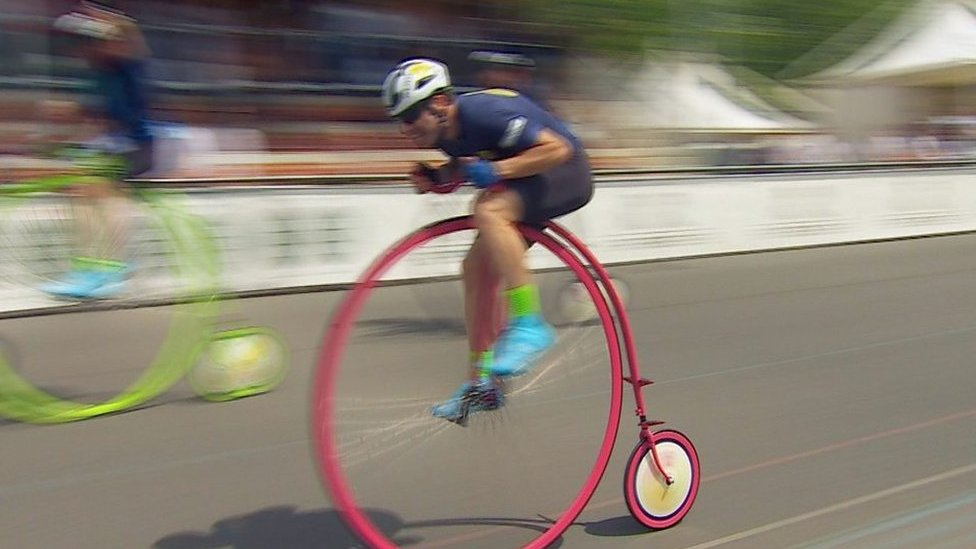 Cycling record... on a Penny Farthing