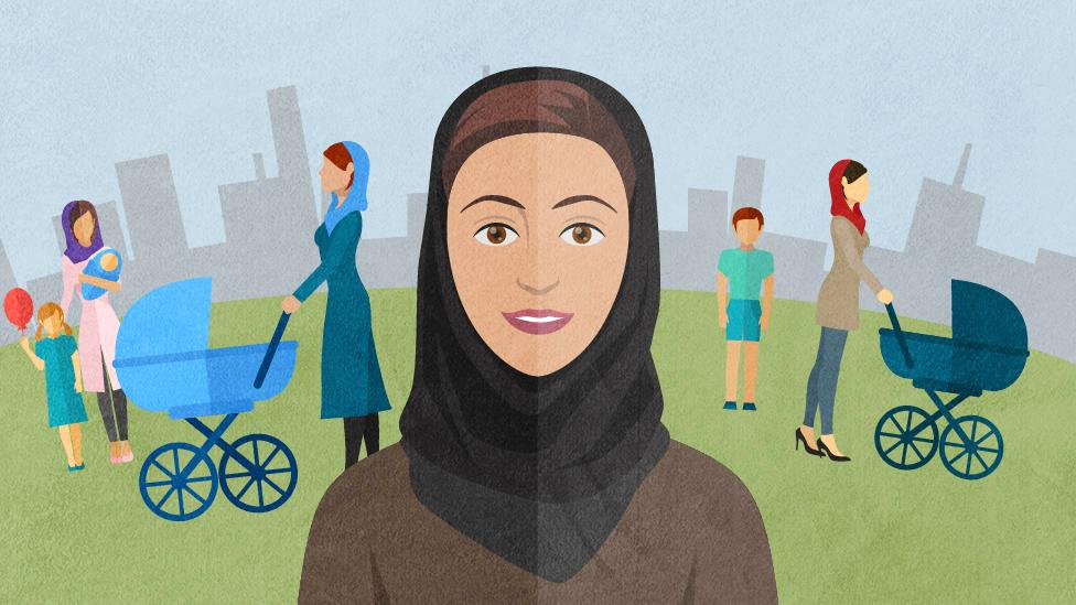 Cartoon showing childfree woman