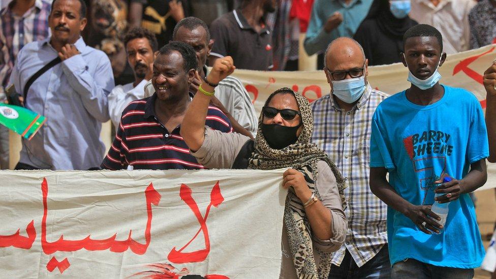 تظاهرة في الخرطوم للمطالبة بإسقاط الحكومة وتصحيح مسار الثورة