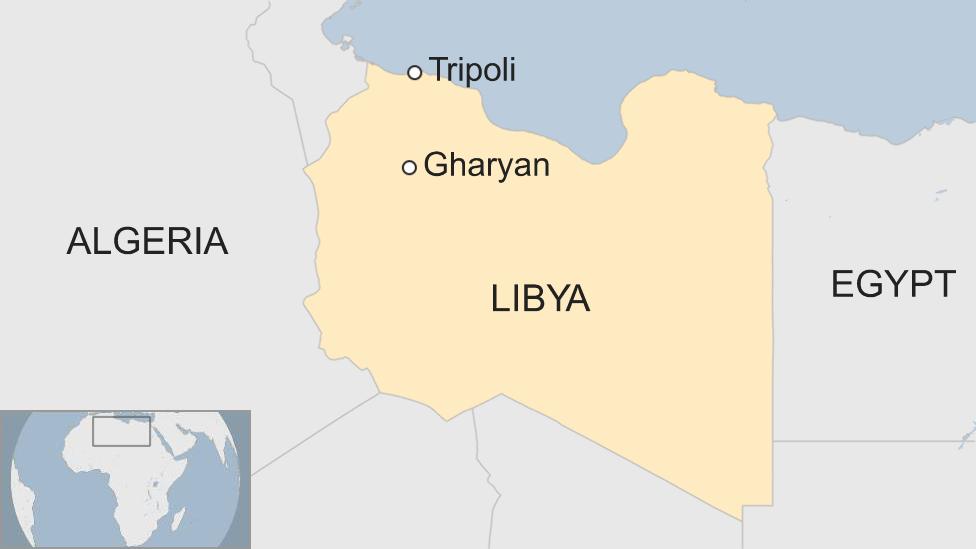 A map of Libya
