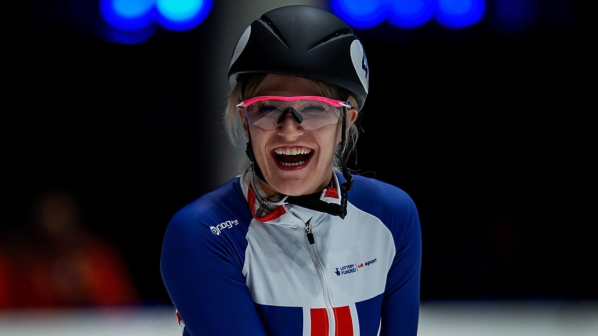 Elise Christie: British short track skater wins European silver on solo skating comeback