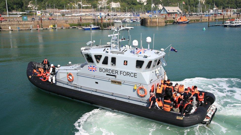 سفينة تابعة لقوات حرس الحدود البريطانية