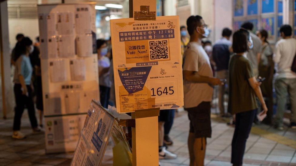 泛民主派早前舉行初選,協調各個政黨的參選人名單,被香港政府批評影響選舉公正。