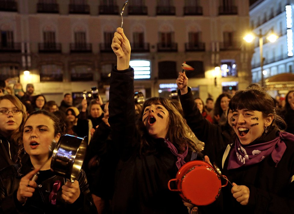 Žene na protestu u Španiji