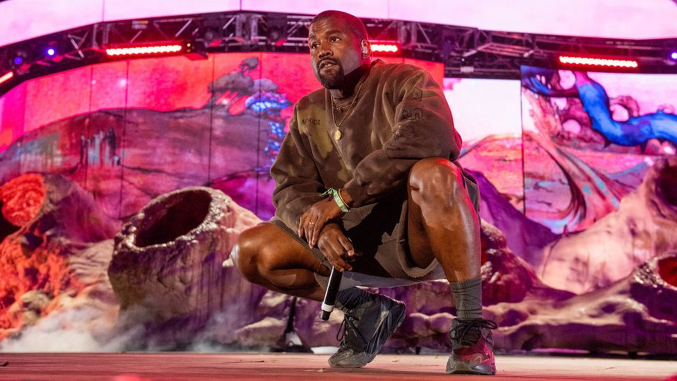Kanye West performs at Coachella