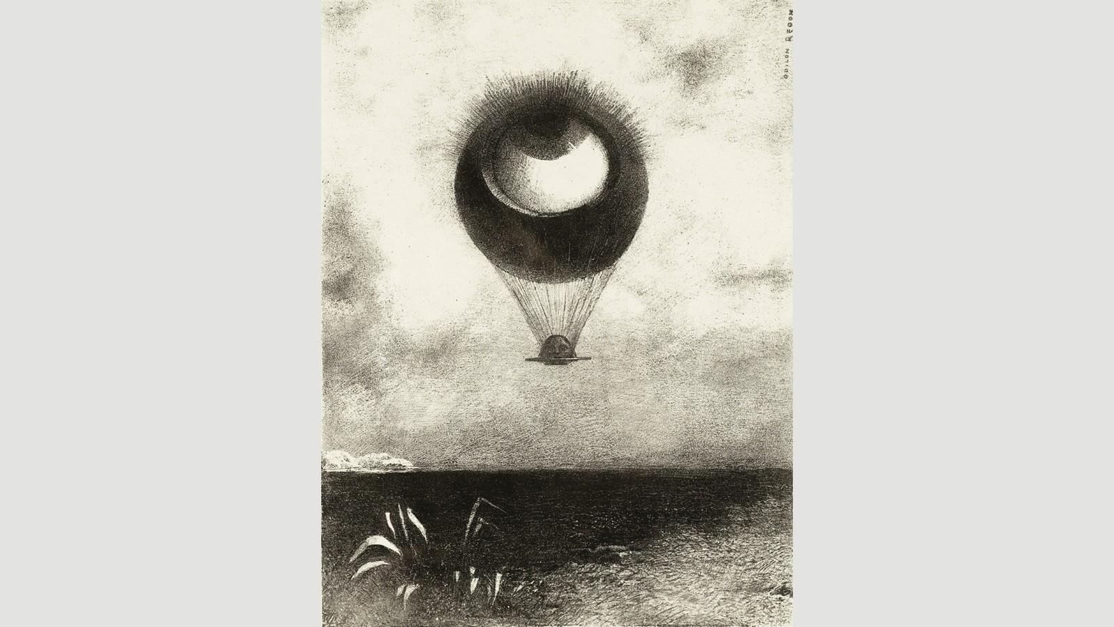 眼睛,像一個奇怪的氣球,飛向無限,雷登對超現實主義者產生了影響。