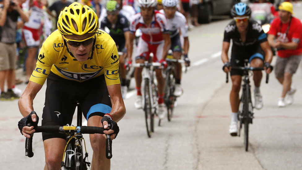 Chris Froome in this year's Tour de France