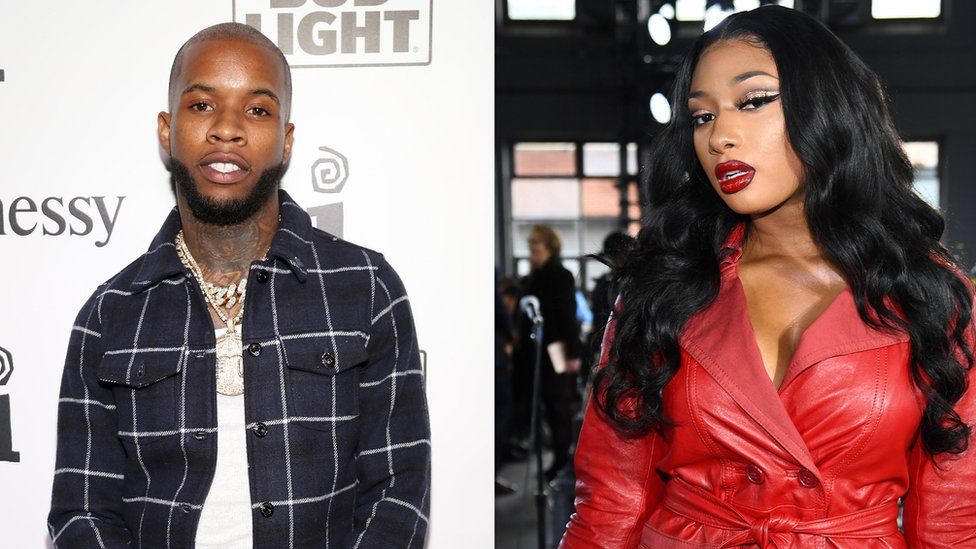 Split picture of Tory Lanez and Megan Thee Stallion