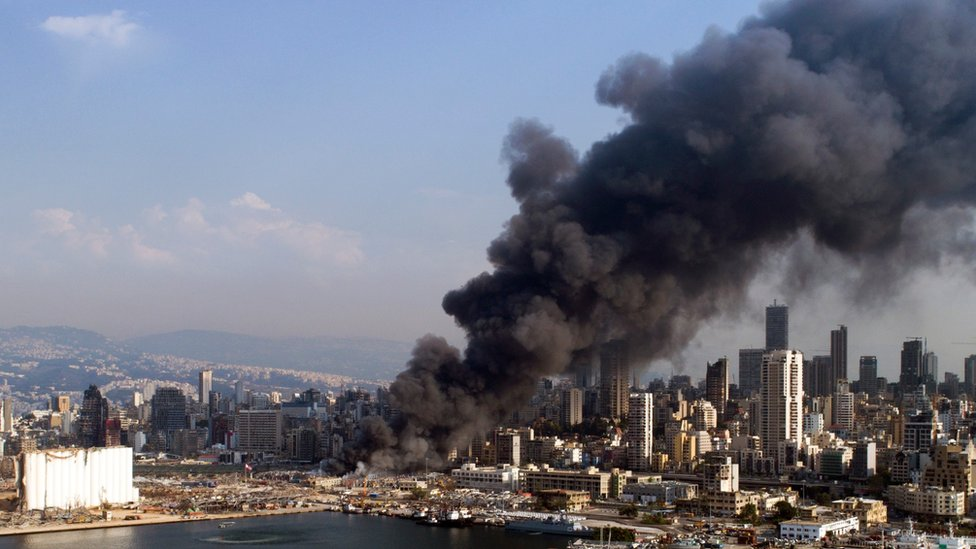 Beirut fire: Large blaze erupts in port a month after explosion thumbnail