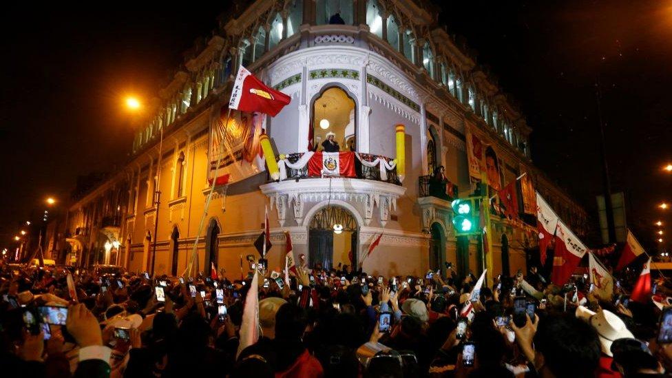 Sede Perú Libre en Lima, la capital peruana.