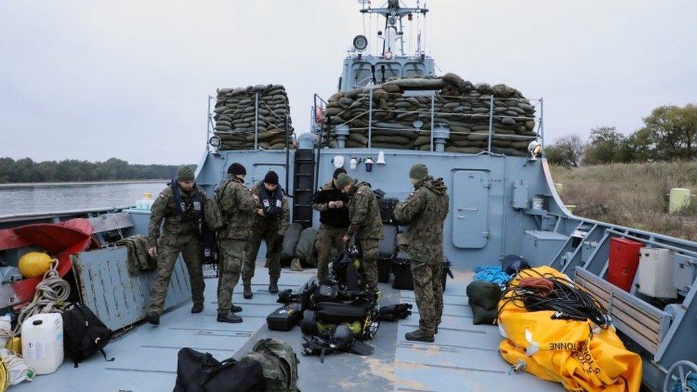 "Navy begins defusing biggest World War II bomb ever found in Poland"""