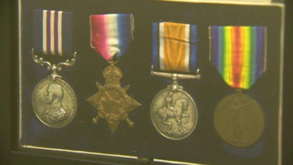 Brian Boyd's war medals