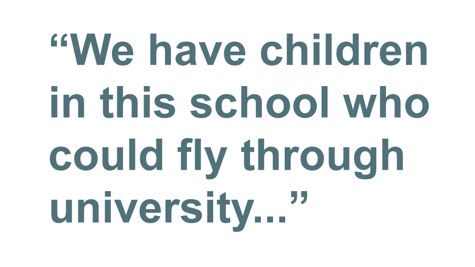 Quotebox: We have children in this school who could fly through university