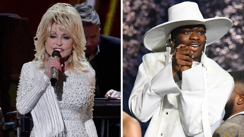 BBC News - Early Grammys for Dolly Parton and Lil Nas X
