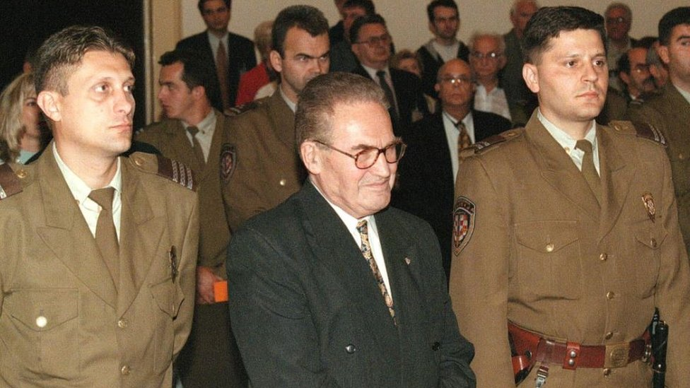 Dinko Sakic, el día de su veredicto.