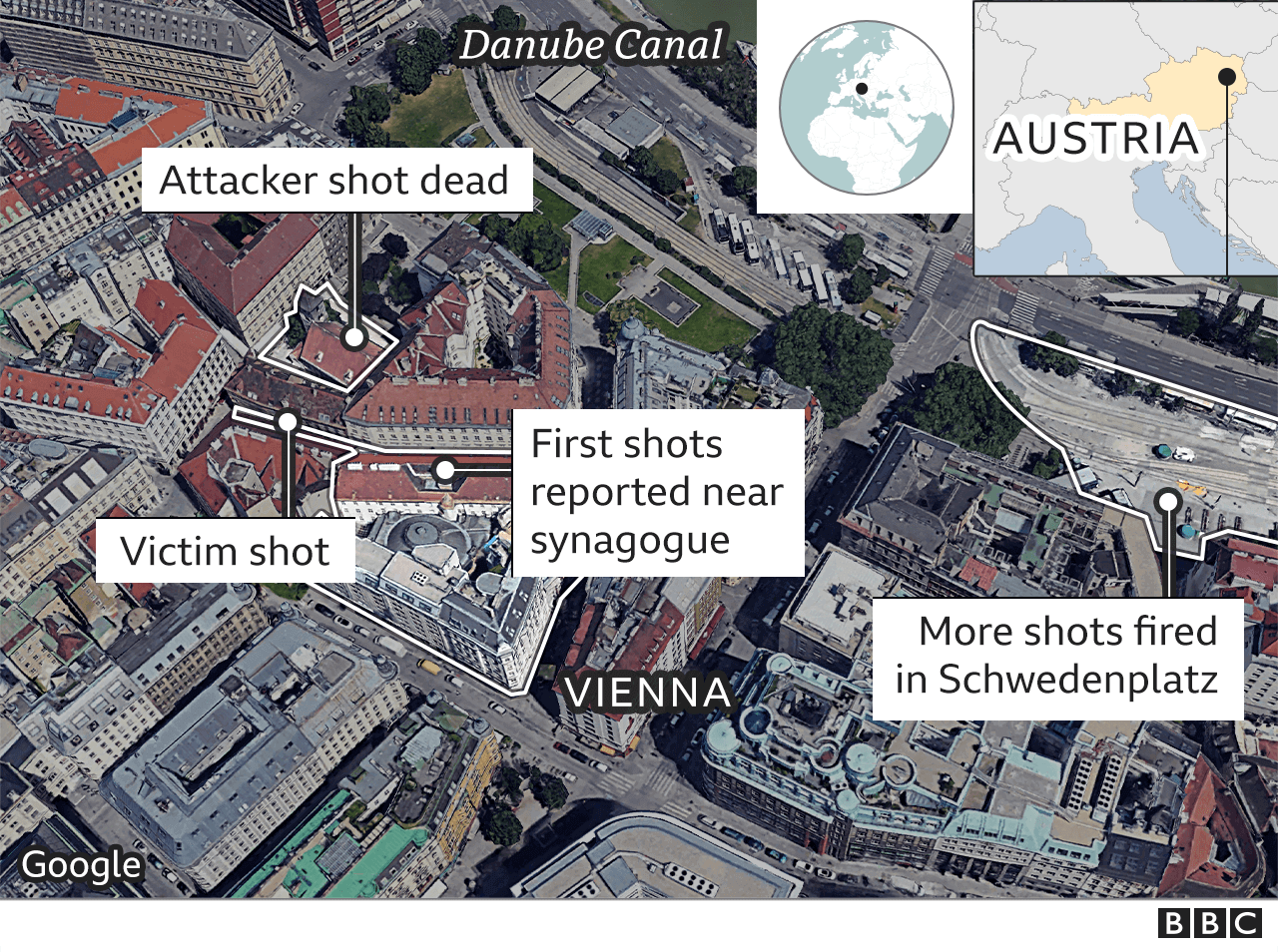 Vienna shooting: What we know about 'Islamist terror' attack - BBC News