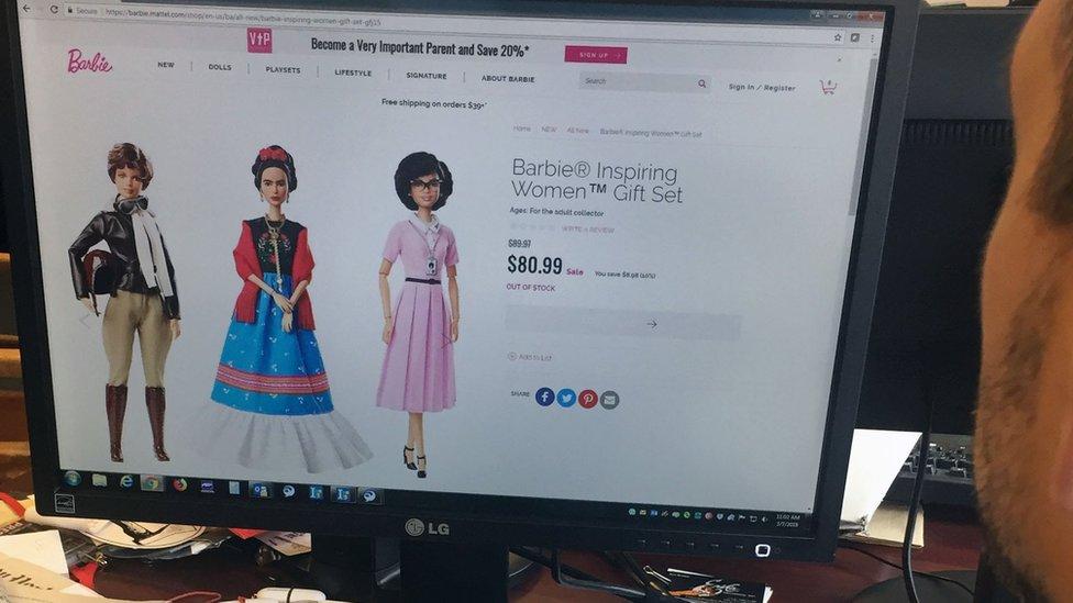 """Foto de la colección de Barbie de """"mujeres que inspiran""""."""