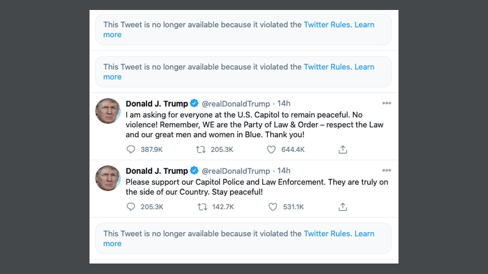 Trump allowed back onto Twitter - BBC News