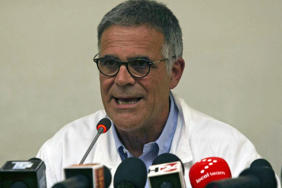 Dr Alberto Zangrillo addresses reporters in Rome, 9 June