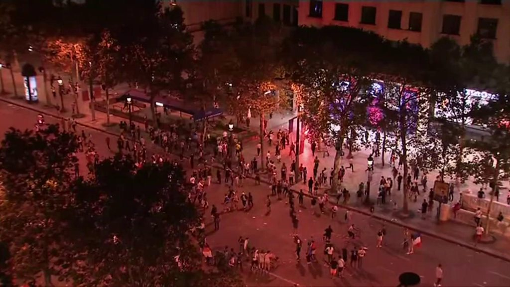 World Cup: Paris celebrations turn violent on the Champs Elysees