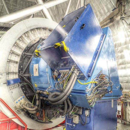 Instrumento OSIRIS colocado en el Gran Telescopio Canarias