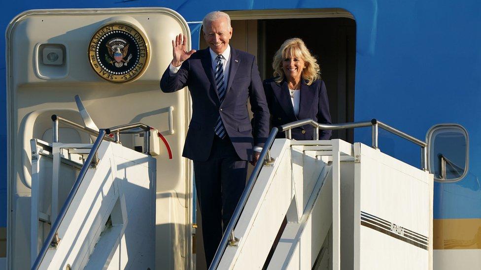 美國總統拜登和夫人6月9日峰會前抵達英國
