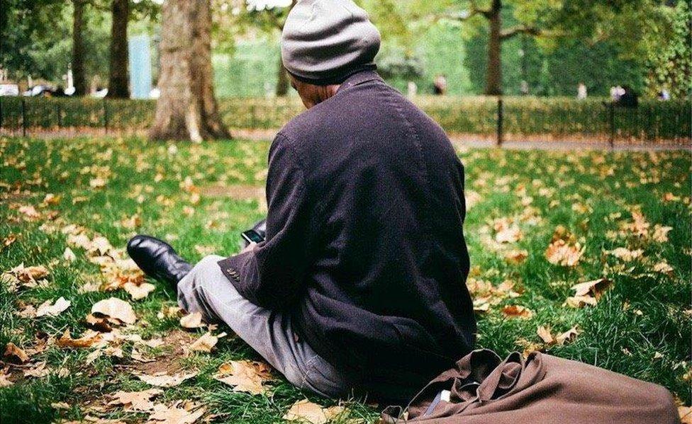 صني أثناء زيارة لحديقة سان جيمس في لندن